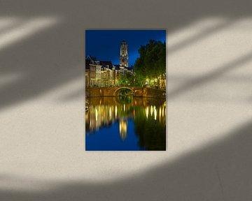Domtoren vu le pont de sable et du Vieux Canal de la rivière Vecht à Utrecht