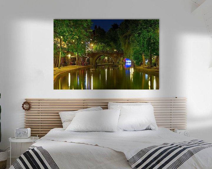 Sfeerimpressie: Jacobibrug  Oudegracht Utrecht van Anton de Zeeuw