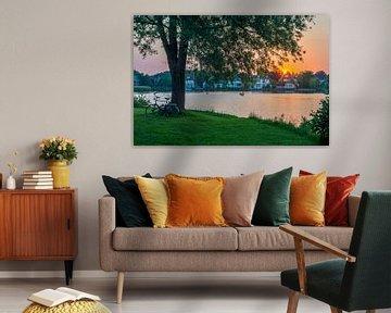 Zonsondergang op Koudenhoorn van Richard Steenvoorden