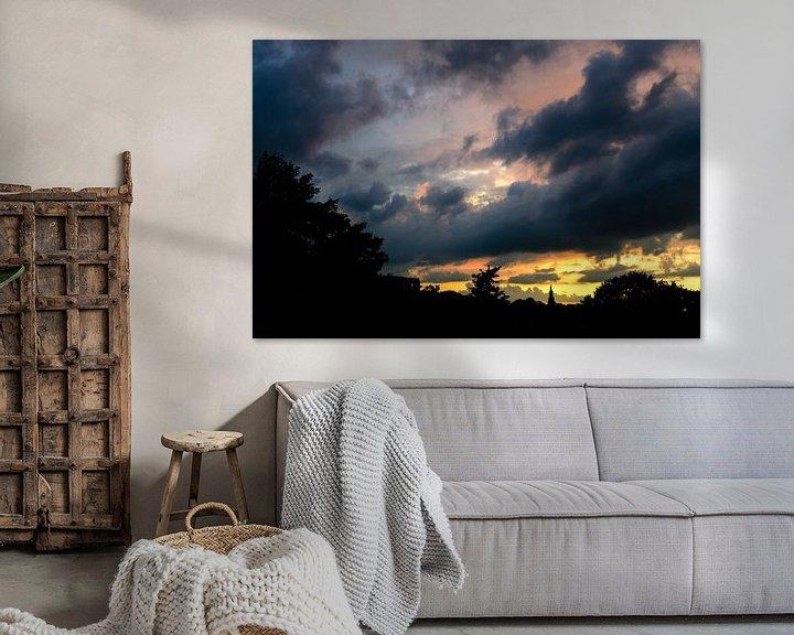 Sfeerimpressie: Amersfoortse zonsondergang van Sjoerd Mouissie