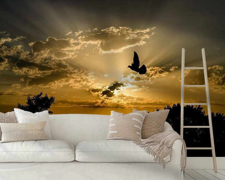 Beispiel fototapete: Amersfoortse zonsondergang von Sjoerd Mouissie