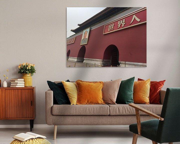 Beispiel: Ingang verboden stad met Keizer Mao Zedong von Puck vn