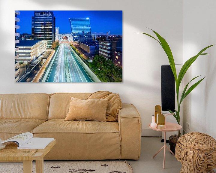 Beispiel: Utrechtsebaan, Den Haag (Blaue Stunde) von John Verbruggen