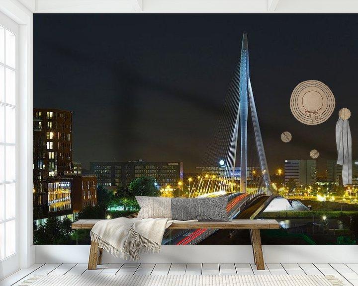 Sfeerimpressie behang: Rivier van licht in Utrecht van Anton de Zeeuw