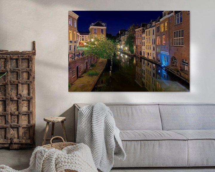 Sfeerimpressie: Nachtfoto Oudegracht Utrecht van Anton de Zeeuw