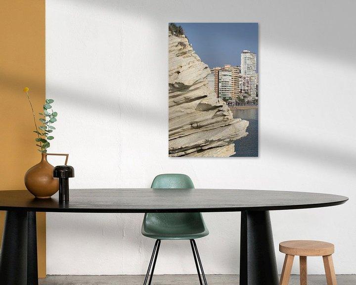 Sfeerimpressie: Rotsen in Benidorm van Lukas van der Burg