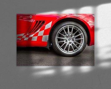 Porsche Boxster in de kleur rood