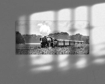 Train à vapeur dans les champs de maïs # 4 sur Sjoerd van der Wal
