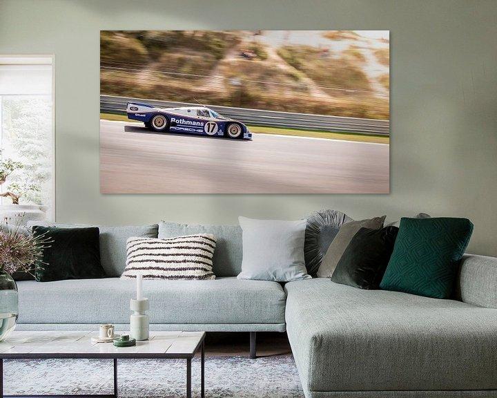 Sfeerimpressie: Le Mans Porsche 956 Rothmans van Arjen Schippers