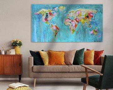 Worldmap Painting Mix sur Atelier Paint-Ing
