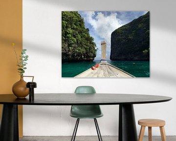 Long tail boat Thailand van Liza Willemsen