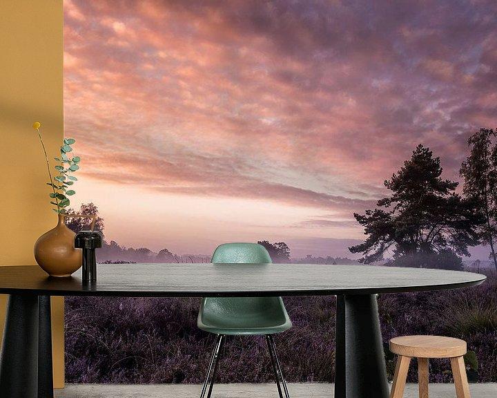 Sfeerimpressie behang: Ochtendglorie van Sandra Kuijpers