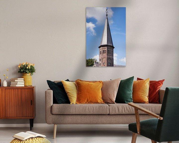 Sfeerimpressie: Kerktoren Sint Jacobuskerk, Kethel bij Schiedam van Jan Sluijter