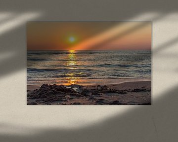 Prachtige zonsondergang in Noordwijk von Richard Steenvoorden