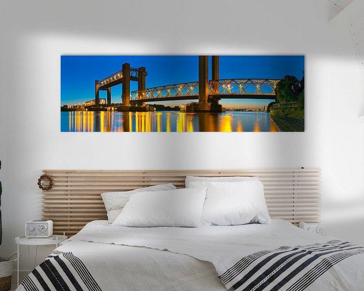 Sfeerimpressie: Panorama Spijkenisserbrug van Anton de Zeeuw