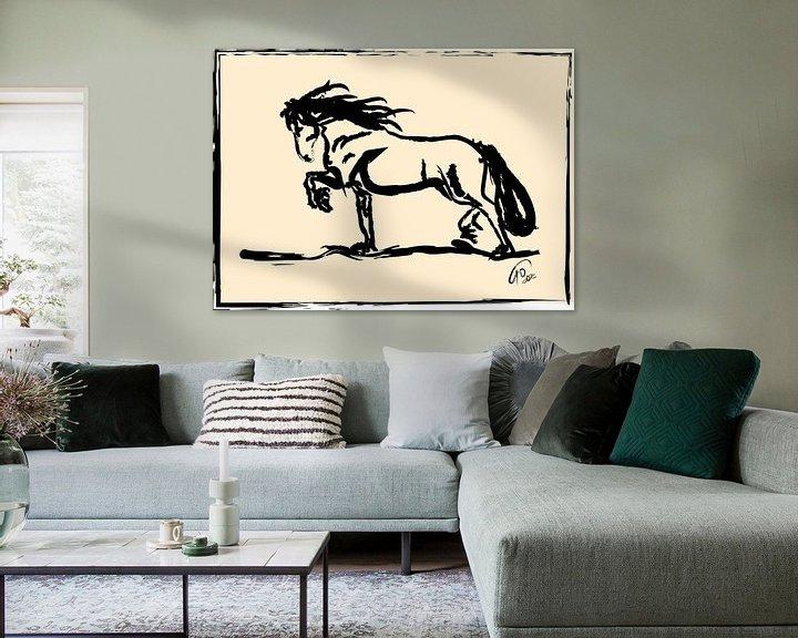 Sfeerimpressie: Paard Blacky van Go van Kampen