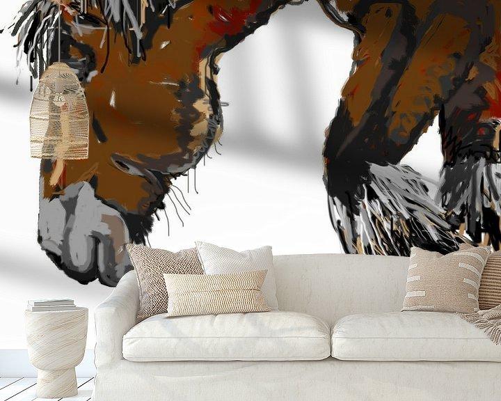 Sfeerimpressie behang: Paard Guus van Go van Kampen