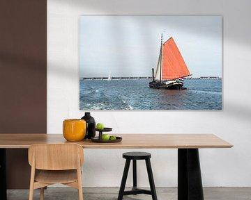 dutch sailing ship ont he haringvliet sur Compuinfoto .