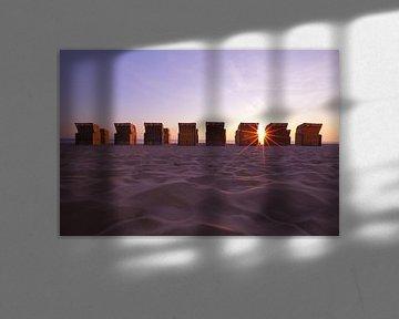 Strandstoelen op het strand van LHJB Photography