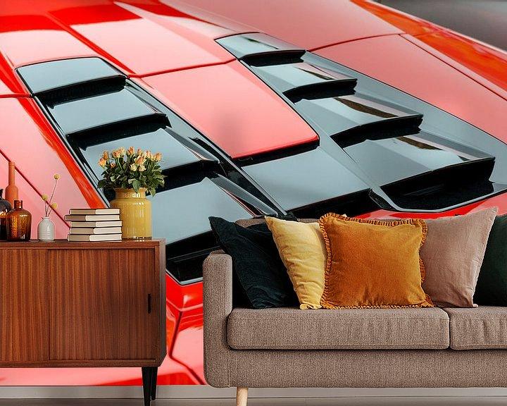 Sfeerimpressie behang: Lamborghini Huracan LP 610-4 Spyder V10  van Sjoerd van der Wal