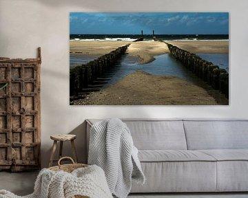 Strand bij Burgh-Haamstede von Leo Langen