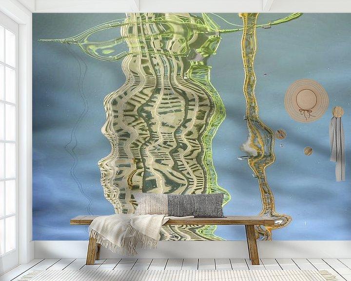 Sfeerimpressie behang: Bouwkranen en woontorens, Kop van Zuid, Rotterdam van Frans Blok