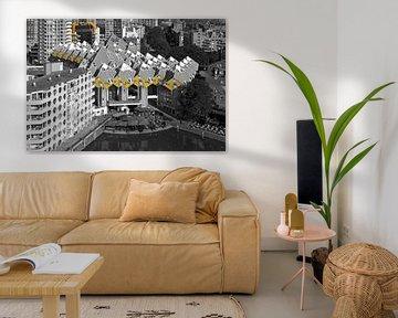 Cube Häuser Rotterdam schwarz / weiß von Anton de Zeeuw