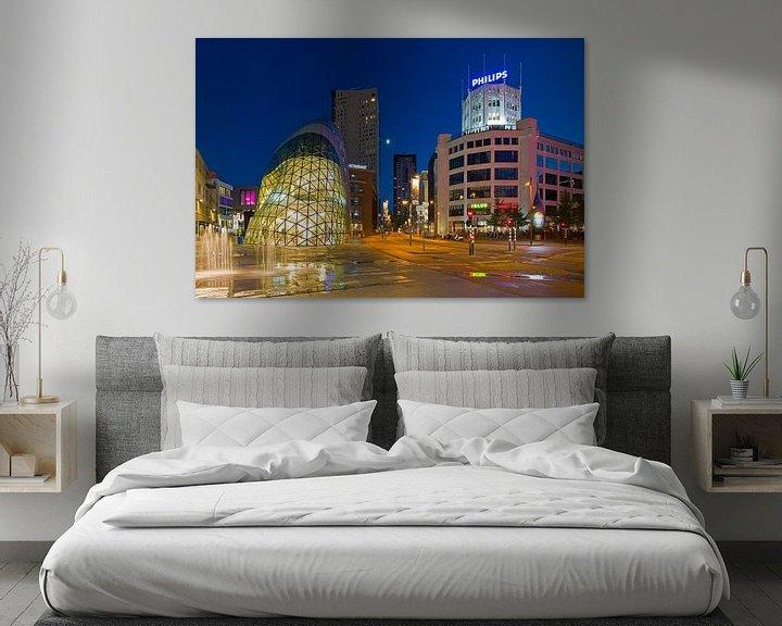 Sfeerimpressie: Eindhoven de Blob en Lichttoren van Anton de Zeeuw
