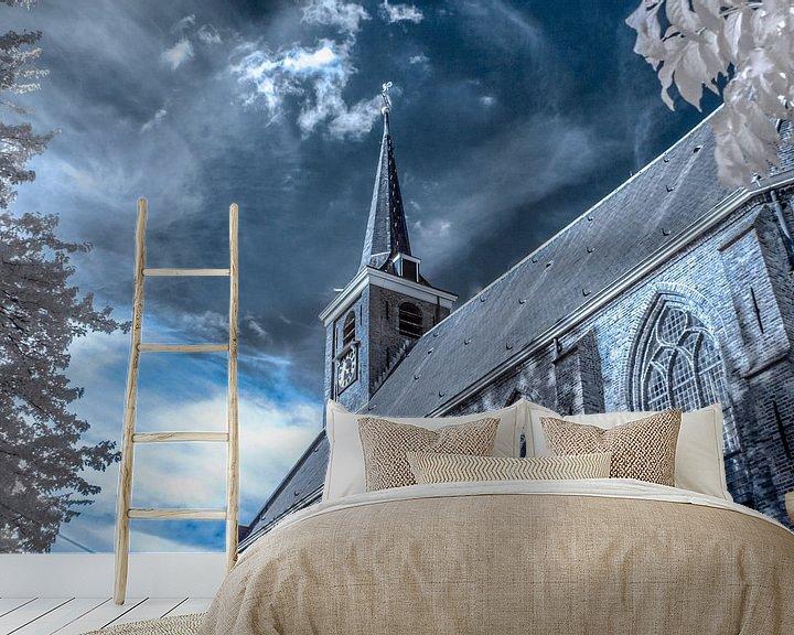 Sfeerimpressie behang: Dorpskerk Barendrecht van Ad Van Koppen