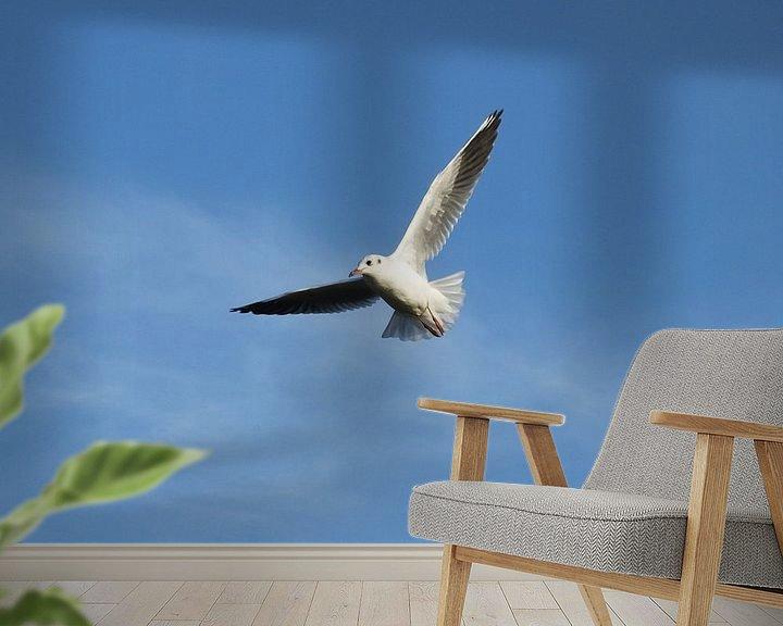 Sfeerimpressie behang: vrij als een vogel / free as a bird van Pascal Engelbarts
