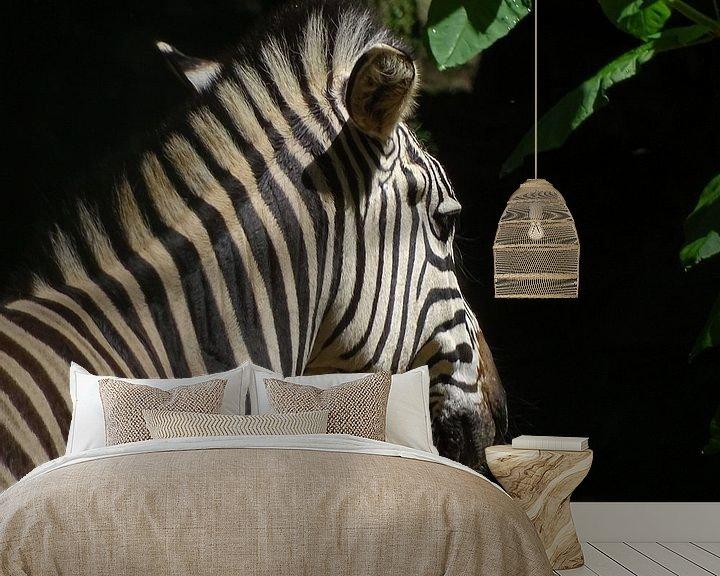 Beispiel fototapete: Zebra in sunshine von Sandra de Moree