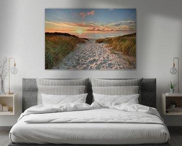 Texel zonsondergang bij paal 22 van John Leeninga