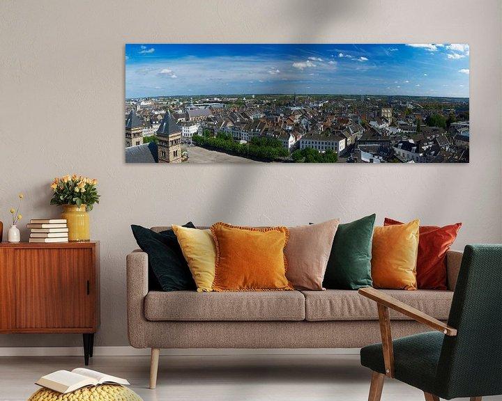 Impression: Panorama de Maastricht depuis le Vrijthof sur Roger VDB