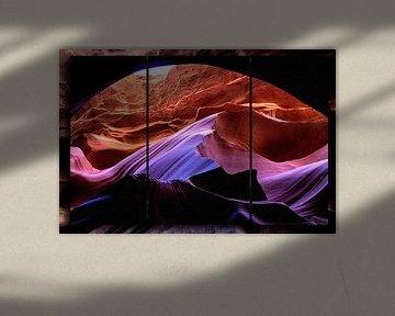 Triptych - Antelope Canyon van Christine Nöhmeier