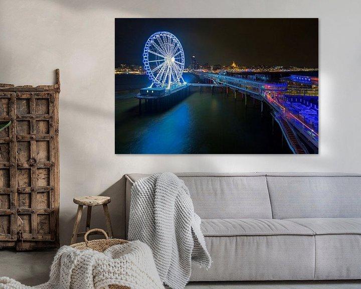 Beispiel: Scheveningen Pier mit Riesenrad in der Nacht von Anton de Zeeuw
