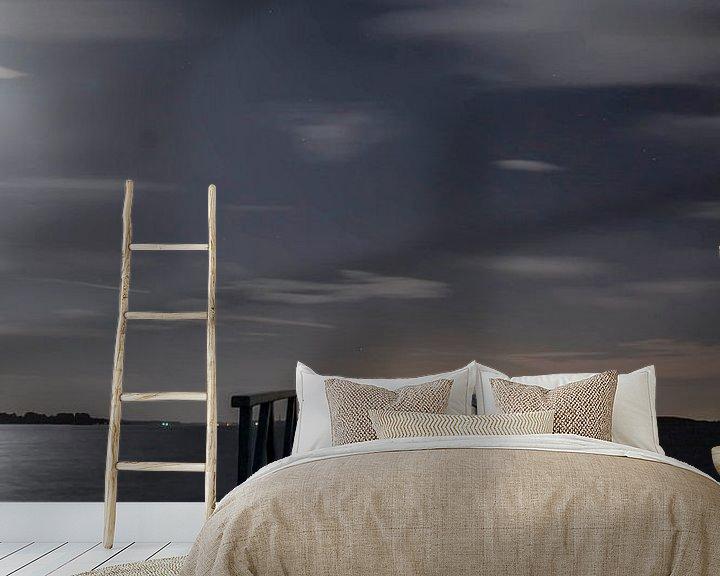 Sfeerimpressie behang: Steiger by night van 3,14 Photography