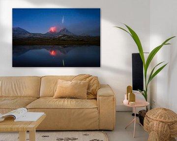 Sternschnuppen-Vulkan in Kamtschatka von Tomas van der Weijden