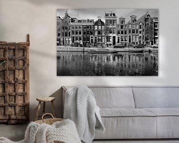 Grachtenpanden Amsterdam, Nederland von Roger VDB