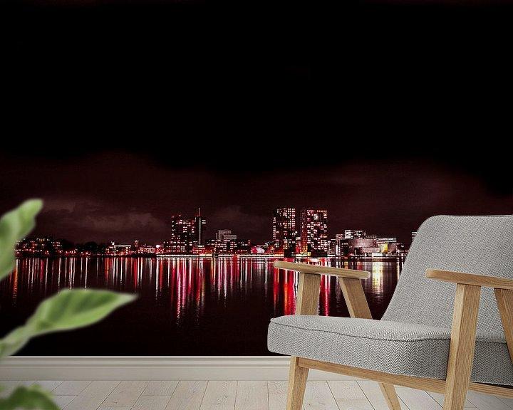 Sfeerimpressie behang: Skyline Almere van Frames by Frank