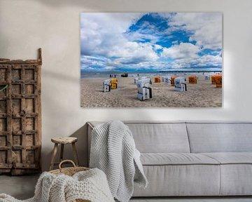 Beach chairs in Ahlbeck van Rico Ködder