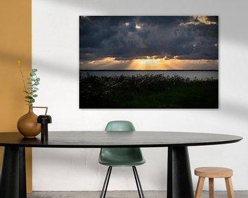 Zonsondergang in Agger, Denemarken van Ake van der Velden
