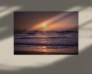 Zonsondergang in Texel van Ake van der Velden
