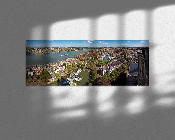 Sfeerimpressie: Oude centrum Dordrecht gezien vanaf Grote Kerk van Anton de Zeeuw