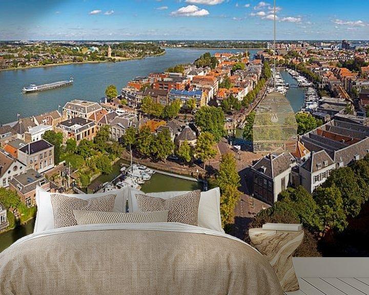Sfeerimpressie behang: Oude centrum Dordrecht gezien vanaf Grote Kerk van Anton de Zeeuw