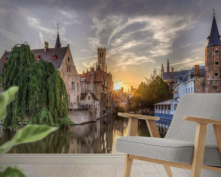 Sfeerimpressie behang: Brugge, Rozenhoedkaai van Fotografie Krist / Top Foto Vlaanderen