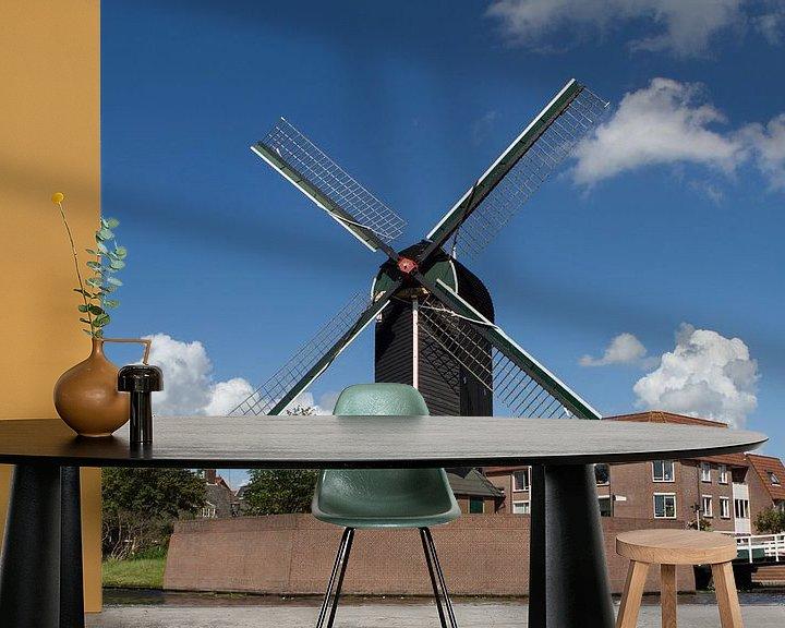 Sfeerimpressie behang: Molen de Put - Leiden  van Leanne lovink