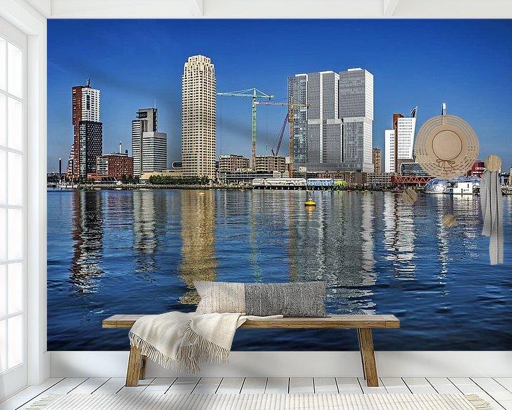 Sfeerimpressie behang: Rijnhaven en Wilhelminapier, Rotterdam van Frans Blok