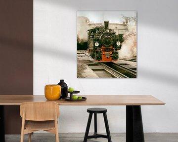 old black steam locomotive in germany von Compuinfoto .
