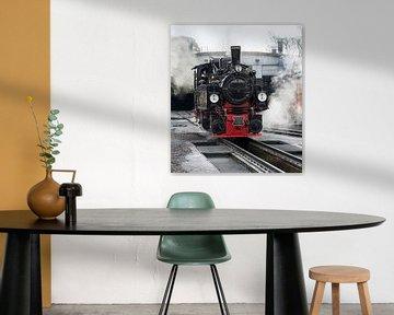 old black steam locomotive in germany