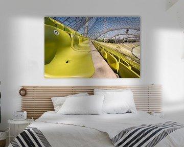 Olympiastadion , München. (Tribune)